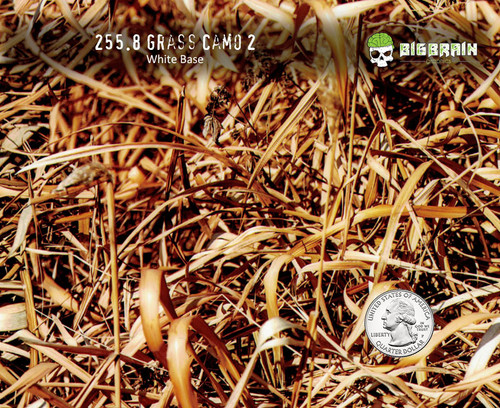 Grassland Grass Camo 2 New Version Big Brain Graphics Trusted Seller Hydrographics Film Pattern Supplies USA White Base Quarter Reference