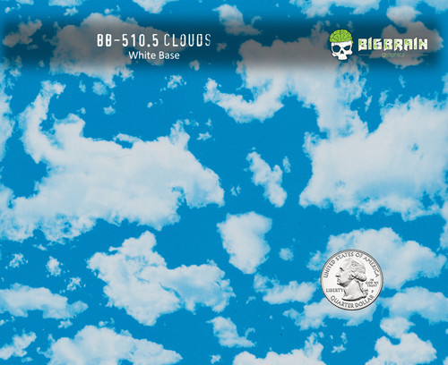 Clouds Sky Heaven Hydrographics Pattern Film Big Brain Graphics White Base Quarter