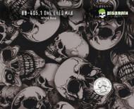 One Eyed Eye Max Skull Skulls Hydrographics Film Pattern Big Brain Graphics White Base Quarter