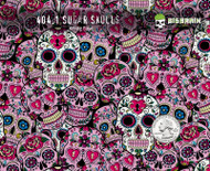 Sugar Skulls Sugar Pink Girly Pattern Day of Day Muertes Hydrographics Pattern Big Brain Graphics Supplies Buy White Base Quarter Reference