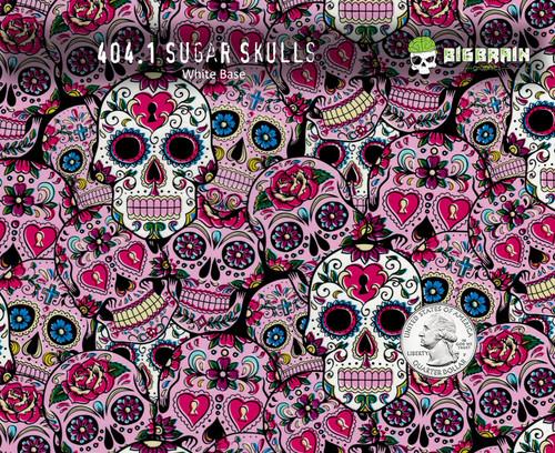 Sugar Skulls Sugar Pink Girly Pattern Day of Day Muertes Hydrographics Pattern Big Brain Graphics Supplies Buy White Base Quarter Reference