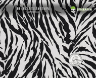 Tiger Stripes Cat Animal Wild Zebra Hydrographics Film Pattern Big Brain Graphics High Quality White Base Quarter Reference