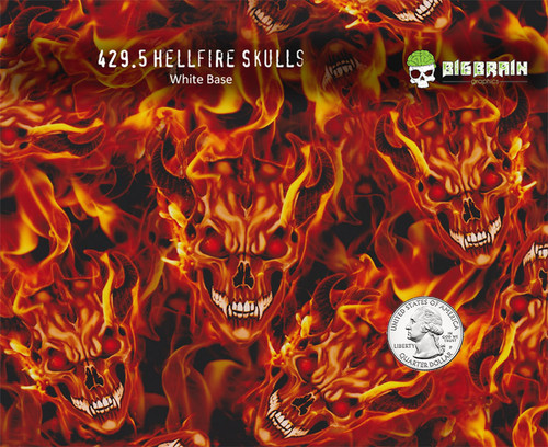 Flames Hellfire Skulls Fire Hydrographics Big Brain Graphics Buy