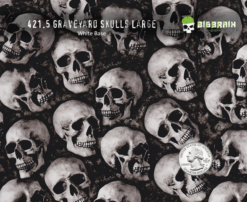 See Speak Hear No Evil Skulls Hydrographics Film 100cm Big Brain MULTIPLE LENGTH
