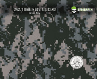 Urban Digital Camo Hydrographics Film Pattern Big Brain Graphics Quarter Reference