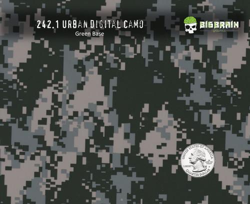 Urban Digital Camo Hydrographics Film Pattern Big Brain Graphics Quarter Reference