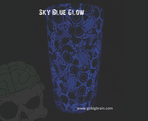 Sky Blue Yeti Cup Sugar Skulls Girl Woman Pattern Print Dippable Dipping Big Brain Graphics Hydrographics