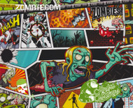 HydroMonkeys ZombieCom Comics Hydrographics Dipping Film Big Brain Graphics Comic Book