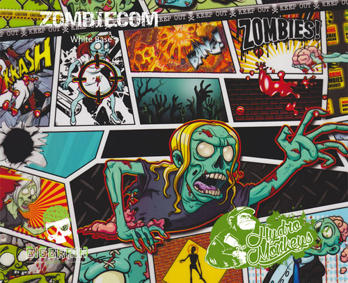 HydroMonkeys ZombieCom Comics Hydrographics Dipping Film Big Brain Graphics Comic Book