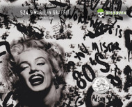 Marilyn Graffiti Grafitti Abstract Street Art Hydrographics Film Big Brain Graphics White Base Quarter Reference