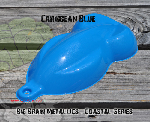 Caribbean Blue Ocean Coastal Series Water Sky Metallic Paint Big Brain Graphics Hydrographics