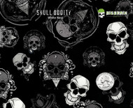 Skull Oddity Skulls Hydrographics Detailed Pattern Film Buy Supplies Big Brain Graphics White Base Quarter Reference