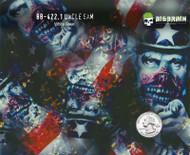 Uncle Sam Zombie Zombies Apocolypse Patriotic American Flag Big Brain Graphics Hydroraphics Film White Base Quarter Reference