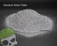 Stardust Silver Bright Metal Flake Glitter Automotive Hydrographics Big Brain Graphics Coatings Supplier USA Hydrographics Clear Base