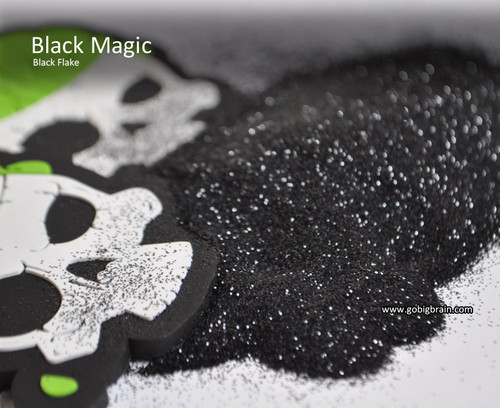 Black Magic Metal Flake Glitter Solvent Resistant Hydrographics Big Brain Coatings Graphics Automotive Clear Base Flat Pile of glitter