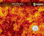 Fireball Backdraft True Flames Big Brain Graphics Hydrographics Flame Fire Pattern Hydrographics Designs Buy Seller USA White Base Quarter Reference