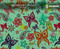 Butterfly Paisley Flower Colorful Girly Girl Woman Hydrographics Film Pattern Big Brain Graphics Mint Base