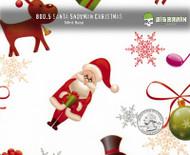 Santa Snowman Reindeer Rudolph Hydrographics Film Pattern Big Brain Graphics White Base Quarter Reference