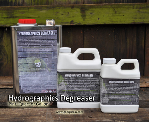 Hydrographics Degreaser Automotive Best Degreaser on market will not take off your print degrease before you clear Big Brain Graphics Hydrographics Supplier Coatings Gallon Quart Pint Set With Free Chemical Bottle