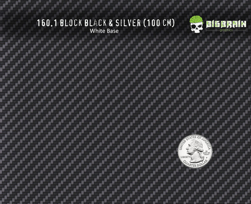Block Carbon Silver Black Solid Carbon Fiber Pattern Film Hydrographics Dipping Realistic Looking Trusted Seller Big Brain Graphics White Base Quarter Reference