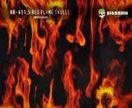 Red Flame Fire Skulls Skull Big Brain Graphics White Base