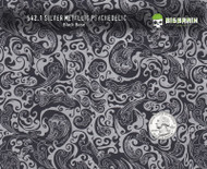 Psychedelic Psychadelic Lady Swirl Woman Pattern Metallic Silver Hydrographics Film Big Brain Graphics USA Trusted Seller Black Base Quarter Reference