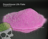 Dreamhouse Flake Pink Bright Awesome Metal Flake Big Brain Graphics Solvent Resistant UV Protected Clear Base Hydrographics Flakes