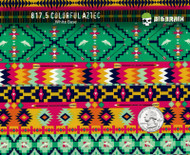 Aztec Colorful Southwestern Poncho Pattern Hydrographics Film Big Brain Graphics Trusted USA Seller White Background Quarter Reference