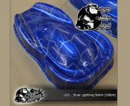 Lightning Strike Silver on Blue Base Big Brain Graphics Hydrographics Hydromonkeys UK film Pattern Big Brain Graphics Speed Shape