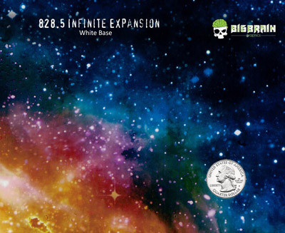 Infinite Expansion Space Colorful Milky Way Nebula Hydrographics Pattern Film Big Brain Graphics USA Trusted Seller Supplier White Base Quarter Reference