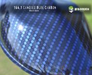 Carbon Candied blue Carbon Fiber Hydrographics Film Pattern Dip Film Big Brain Graphics Trusted USA Seller Black Base