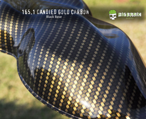 Gold Carbon Fiber Candied Carbon Fiber Dip Kit Pattern Hydrographics Film Trusted Seller Big Brain Graphics Black Base