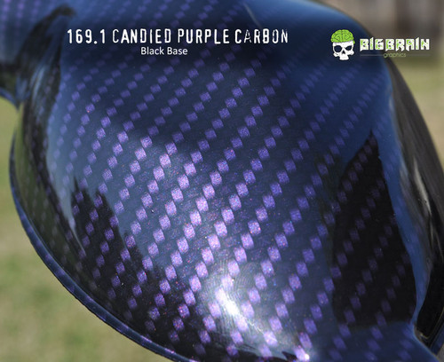 Candied Carbon Fiber Candy Color Pink Dipping Film Hydrographics Pattern Trusted Seller Big Brain Graphics Black Base Reflective