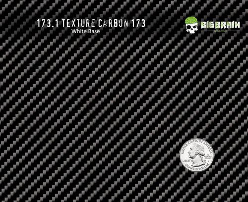 Carbon Real 173 Carbon Fiber Realistic Carbon Fiber Pattern Film Big Brain Graphics Trusted USA Seller White Base Quarter Reference