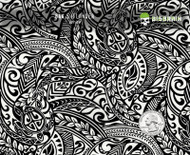 Islander Pacific Polynesian Tattoo Black Clear Hydrographics Pattern Dip Big Brain Graphics Trusted USA Seller White Base Quarter Reference