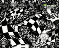 Death Race Checkered Flag Skulls Racing Racecar Skull Hydrographics Film Dip 100 CM Big Brain Graphics White Base Quarter Reference