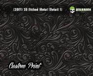 Custom Printed Design 3D Etched Metal Hydrographics Print Dip Film Big Brain Graphics