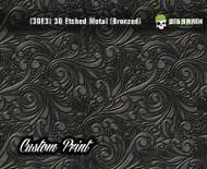 Custom Printed Design 3D Etched Metal Hydrographics Print Dip Film Big Brain Graphics (3)