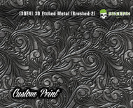 Custom Printed Design 3D Etched Metal Hydrographics Print Dip Film Big Brain Graphics (4) Brushed Metal 2