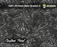 Custom Printed Design 3D Etched Metal Hydrographics Print Dip Film Big Brain Graphics  Brushed 5