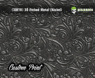 Custom Printed Design 3D Etched Metal Hydrographics Print Dip Film Big Brain Graphics (18) Brushed Nickel Metal