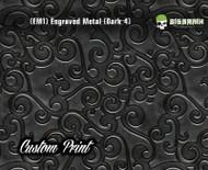 Engraved 3D Metal Etched Detailed Bronzed Bronze Hydrographics Dip Pattern Big Brain Graphics Custom Print Printed Dip Film