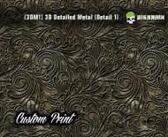Custom Printed Design 3D Detail (3DM1) Metal Hydrographics Print Dip Film Big Brain Graphics (00) Brushed Bricks Metal