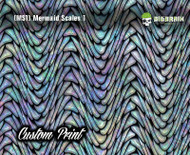 Mermaid Scales Rainbow Fish Scales Custom Hydrographics Film Print Big Brain Graphics Printing Custom Film