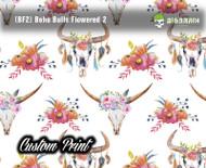 Boho Chic Flowers BF2 Skulls Pink White Flowered Skulls Southwestern Girly Custom Printed Film Big Brain Graphics Trusted Seller Hydrographic Film