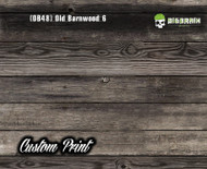 Old Rustic Barnwood 6 (OB48) Barn Wood Tattered Knotty Aged Hydrographic Film Hydrographics Custom Printed Film Big Brain Graphics