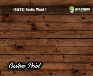 Old Rustic Wood Realistic Woodgrain Rustic Wood 1 (RW29) Hydrographics Custom Printed Hydrographic Film Big Brain Graphics