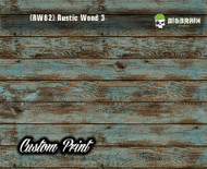 Old Rustic Wood Realistic Woodgrain Rustic Wood 3 (RW82) Green Painted Deck Hydrographics Custom Printed Hydrographic Film Big Brain Graphics