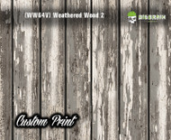 Old Rustic Weathered (WW64V) Vertical Wood Realistic Woodgrain Multi Color Painted Deck Hydrographics Custom Printed Hydrographic Film Big Brain Graphics