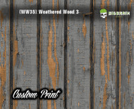 Old Rustic Weathered Wood 3 (WW35V) Vertical Wood Realistic Woodgrain Multi Color Painted Deck Hydrographics Custom Printed Hydrographic Film Big Brain Graphics